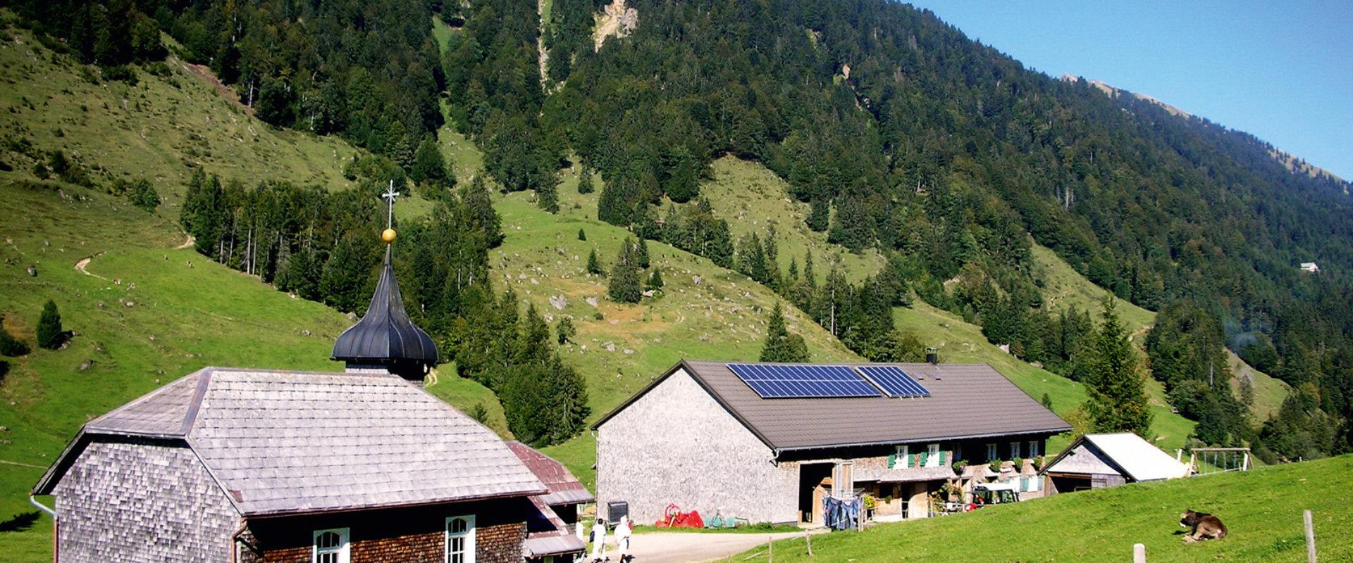 Höflealpe im Lecknertal in Hittisau