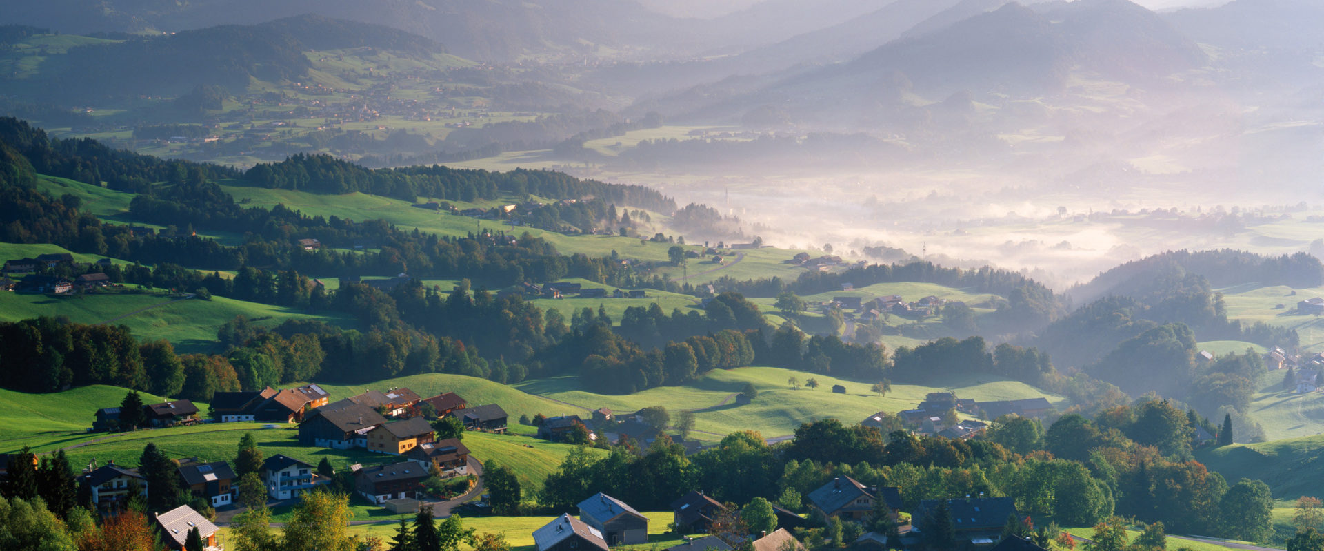 Bregenzerwald Blick auf Schwarzenberg © Popp & Hackner / Vorarlberg Tourismus
