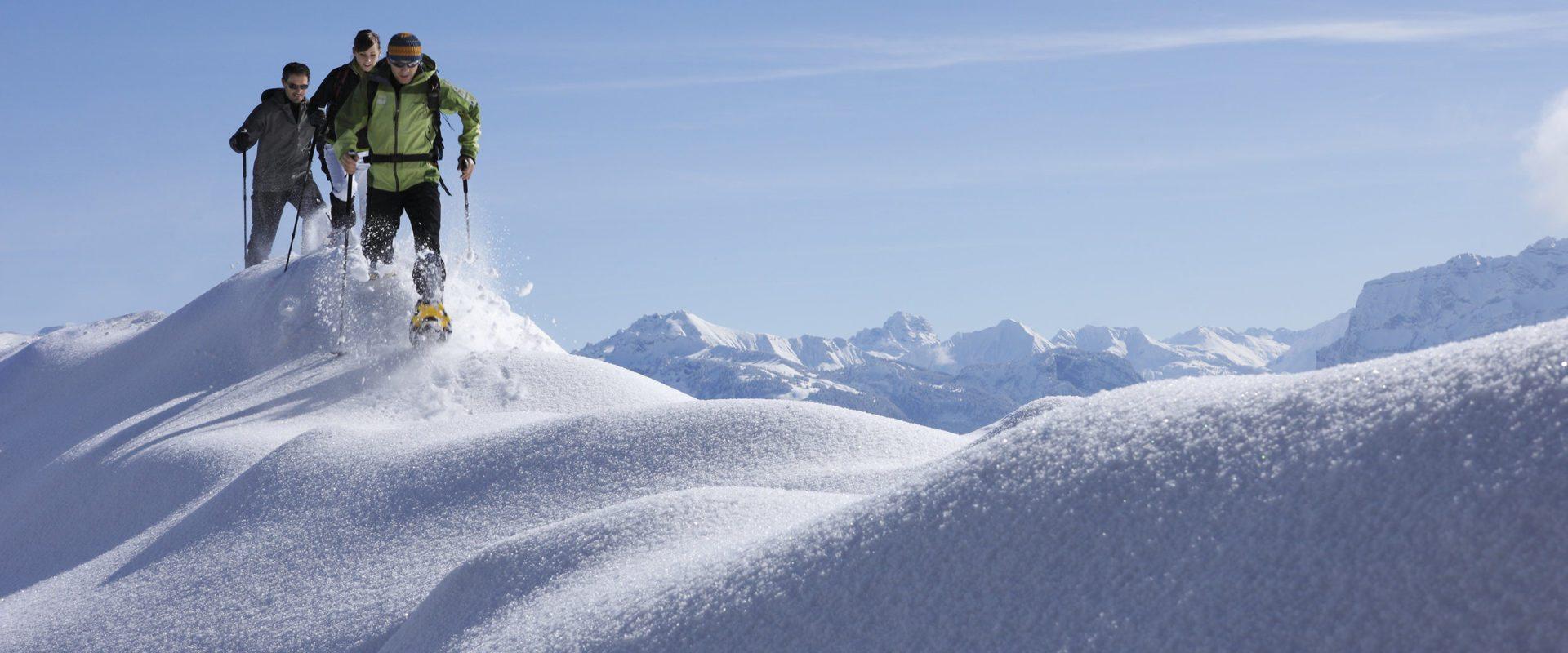 Schneeschuhtour am Bödele © Adolf Bereuter / Bregenzerwald Tourismus
