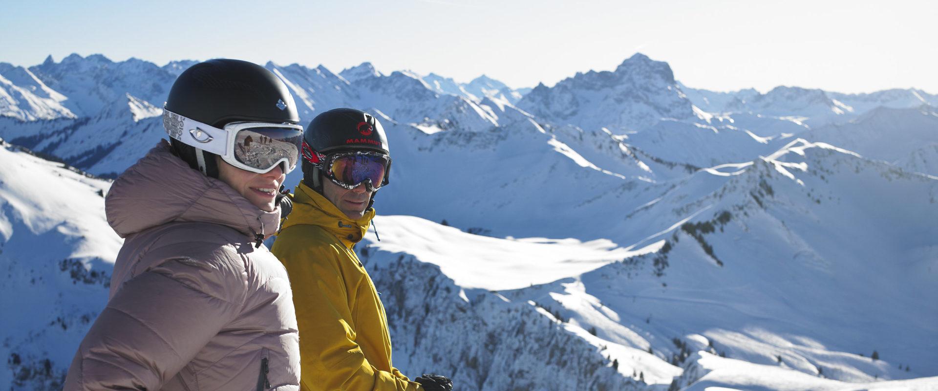 Skifahren am Diedamskopf © Alex Kaiser / Bergbahnen Diedamskopf