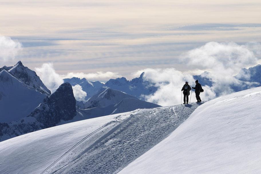 Winterwandern auf dem Diedamskopf © Dietmar Walser / Bergbahnen Diedamskopf