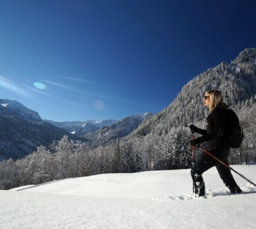 Erlebnis-Schneeschuhwanderung mit Erwin in Mellau