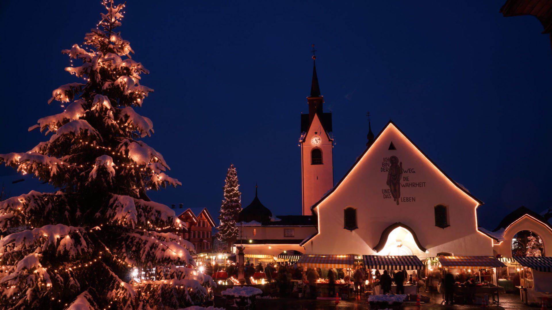 Weihnachtsmarkt Schwarzenberg.Schwarzenberger Advent Bregenzerwald In Vorarlberg