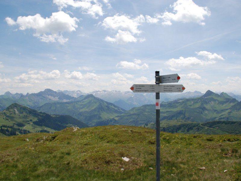 Beschilderung Wanderwege © Stefan Bischof / Bregenzerwald Tourismus
