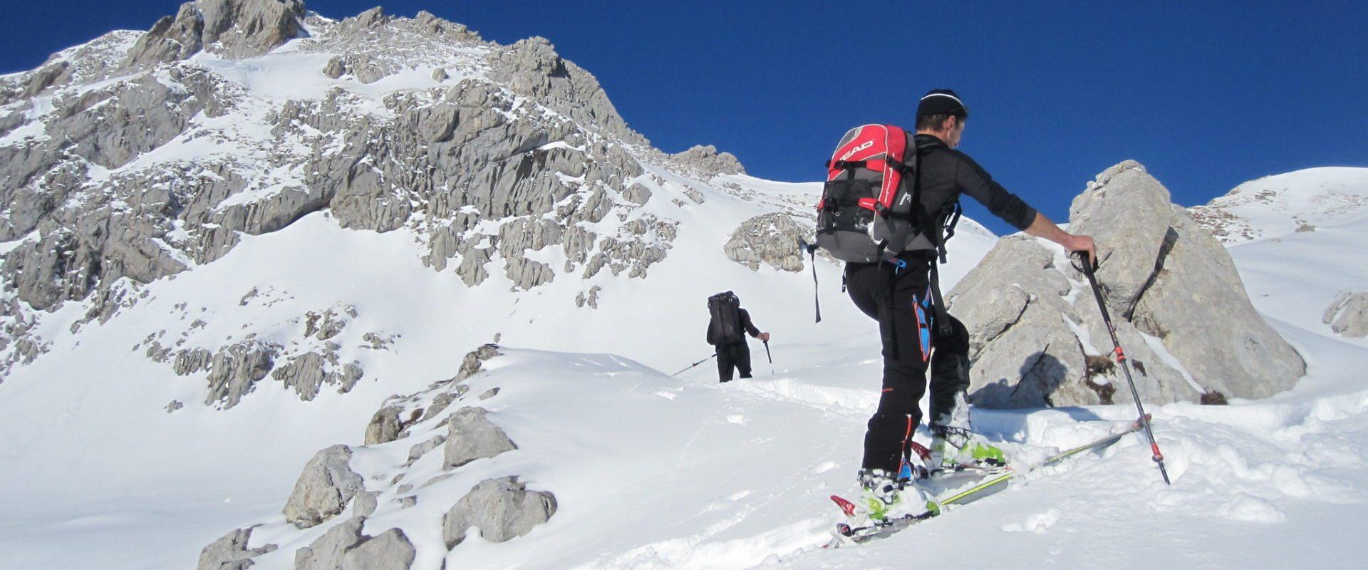 Fortgeschrittenen Skitour Juppenspitze (2.412 m)