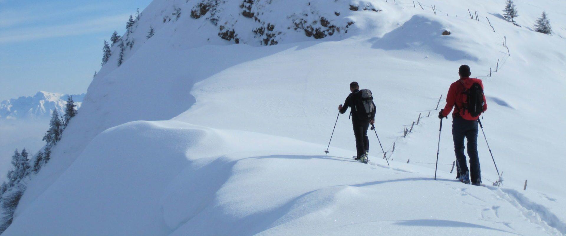 Winterstaude (1,877 m) ski tour for advanced skiers