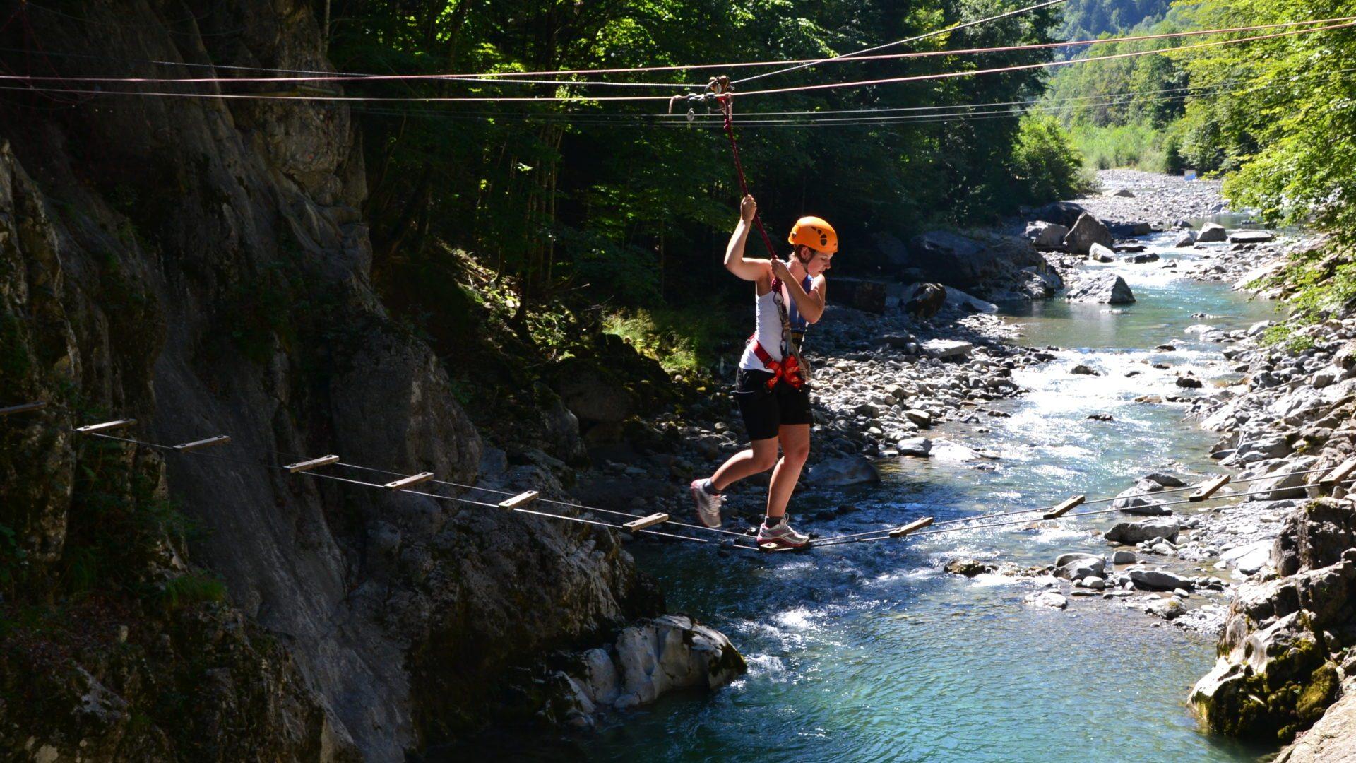 Klettergurt Für Hochseilgarten : Aqua hochseilgarten bregenzerwald in vorarlberg