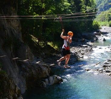 Aqua high-ropes course