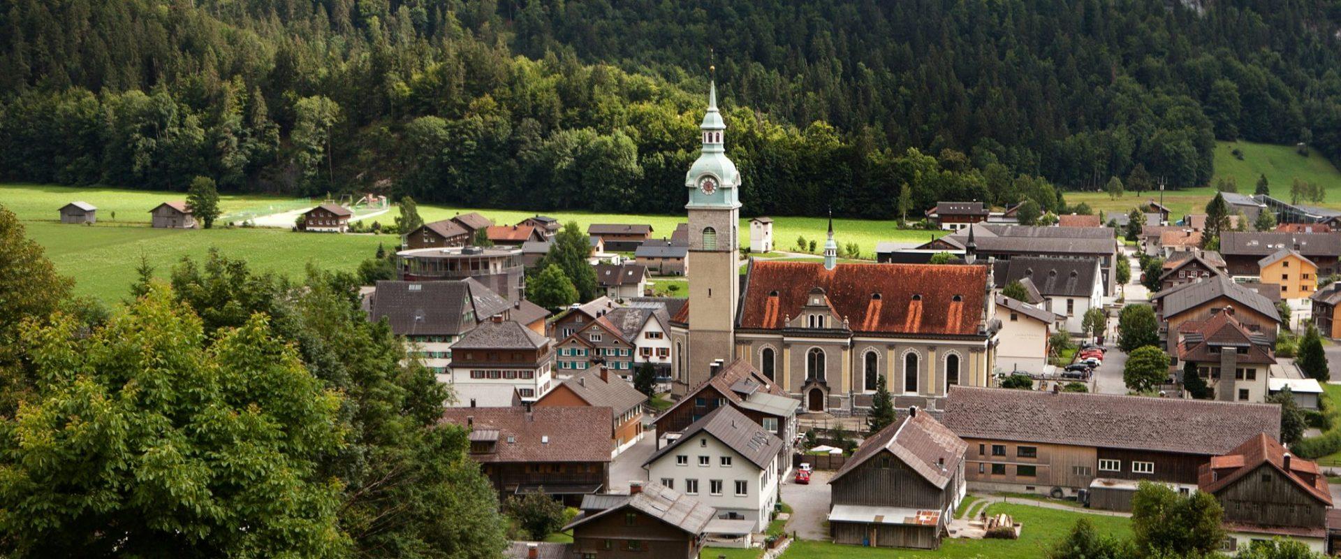 Dorfansicht Bezau (c) Anja Kaufmann - Bezau Tourismus