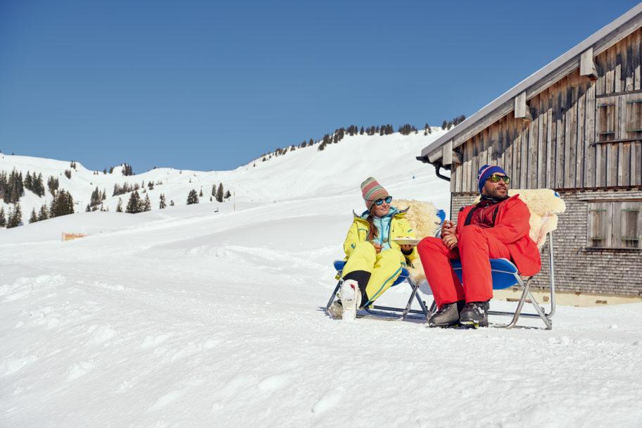 Einkehren Käsker Breitenalpe Diedamskopf im Winter © Alex Kaiser - Diedamskopf Alpin Tourismus GmbH & Co KG (1)