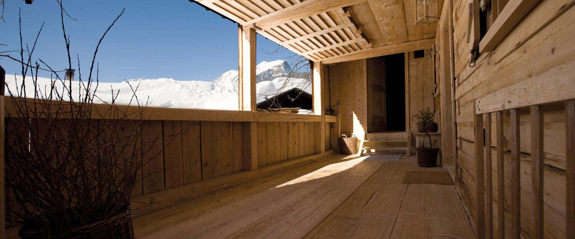 Schopf in einem traditionellen Bregenzerwälder Haus (c) Christine Andorfer - Au-Schoppernau Tourismus