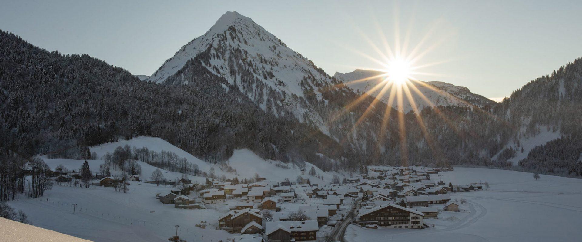 Schoppernau im Winter © Emanuel Sutterlüty - Au-Schoppernau Tourismus