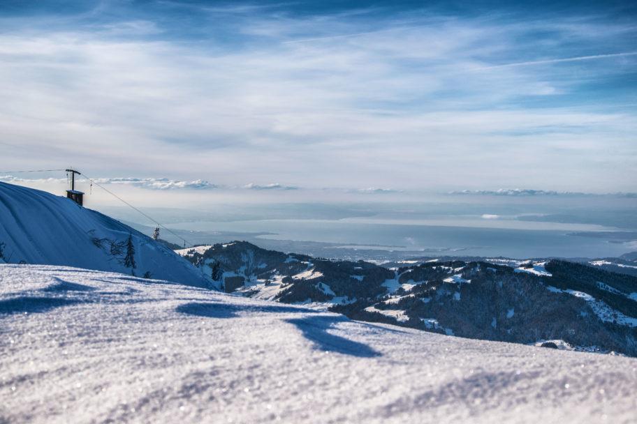 Skigebiet Niedere mit Bodensee (c) Michael Meusburger - Seilbahn Bezau