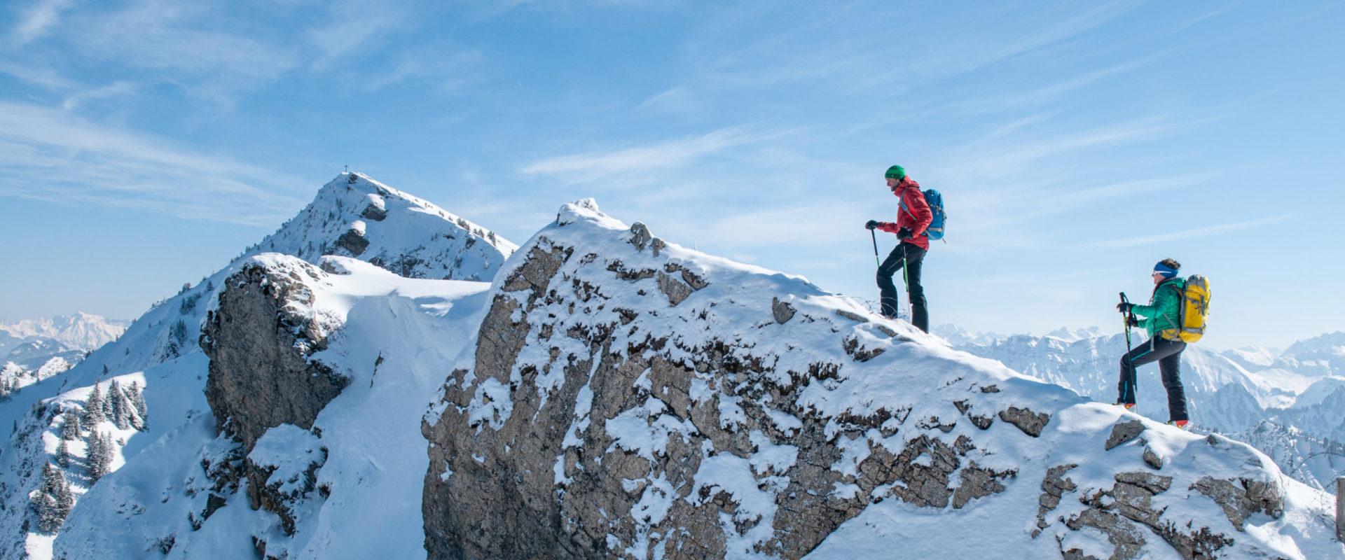 Skitour auf die Winterstaude kurz vor dem Gipfel © Birgit Gelder - Bregenzerwald Tourismus