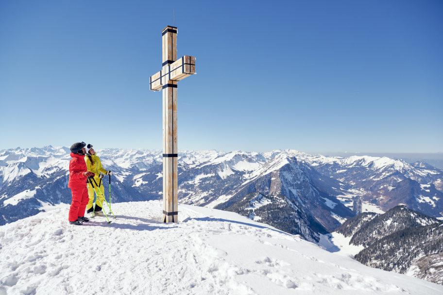 Diedamskopf Gipfel im Winter © Alex Kaiser undefined
