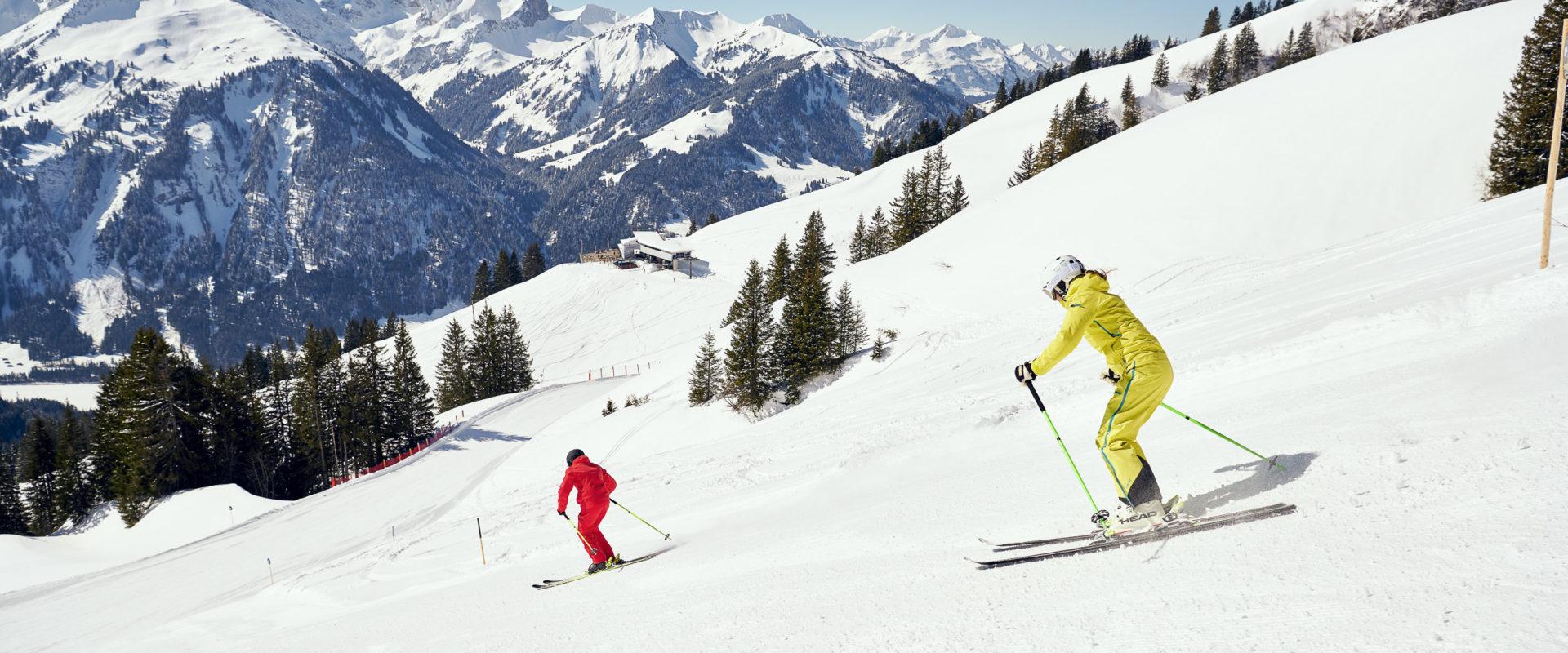 Skiing in Au-Schoppernau