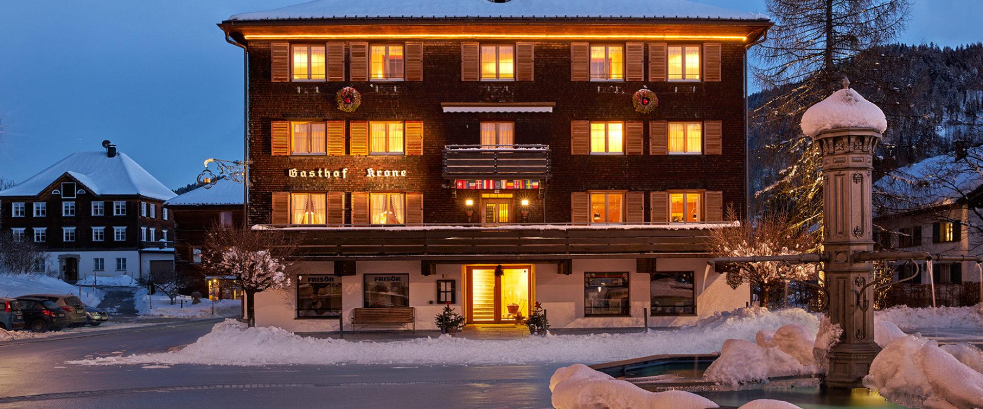Langlaufschnuppertage im Hotel Gasthof Krone in Hittisau