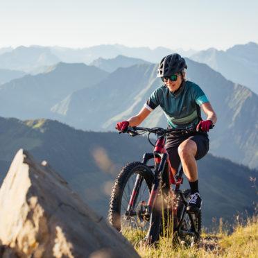 Mountainbiken im Bereich Diedamskopf © Sebastian Stiphout / Bregenzerwald Tourismus