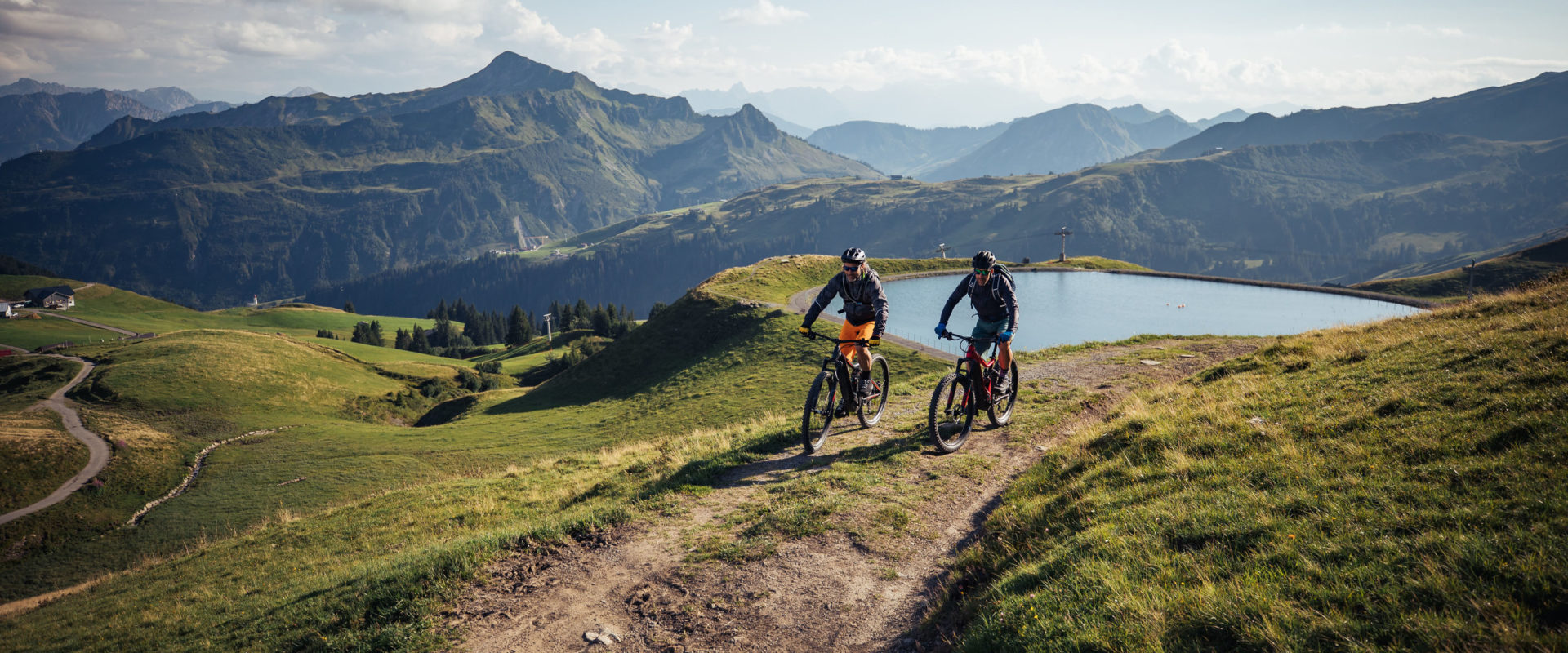Mountainbiken in Damüls © Sebastian Stiphout / Bregenzerwald Tourismus