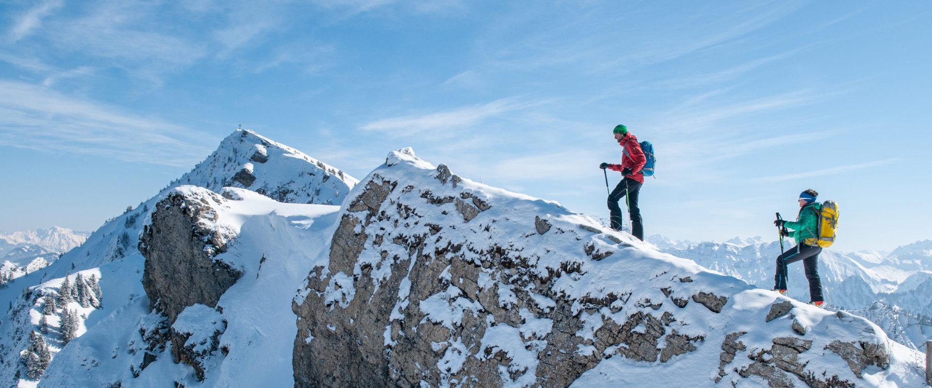 Skitour auf die Winterstaude kurz vor dem Gipfel © Birgit Gelder / Bregenzerwald Tourismus