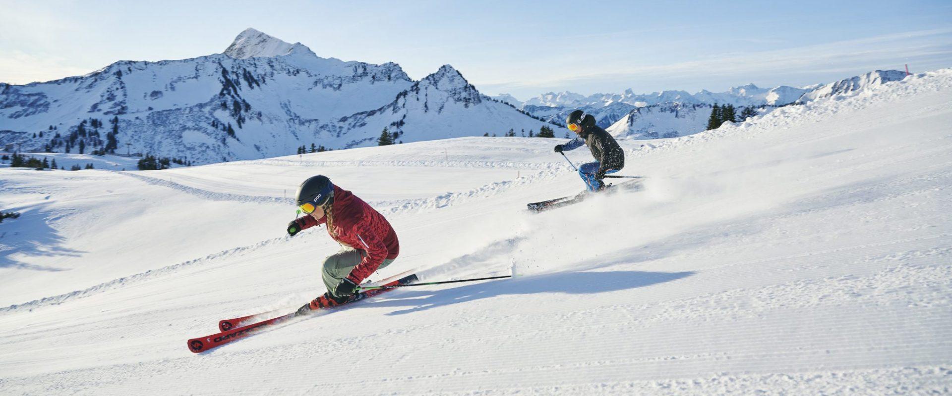Skiing in Damüls-Mellau